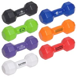 Custom imprinted Dumbbell Stress Reliever