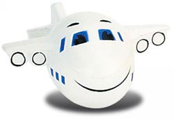 Custom imprinted Airplane Stress Reliever