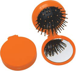 Custom imprinted 2 in 1 Brush/Mirror Kit