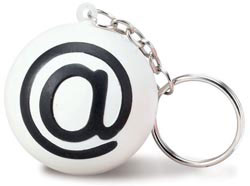 Custom imprinted @ Key Chain Stress Reliever
