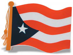 Custom imprinted Puerto Rican Flag Stress Reliever