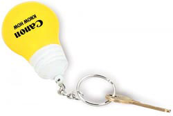 Custom imprinted Light Bulb Key Chain Stress Reliever