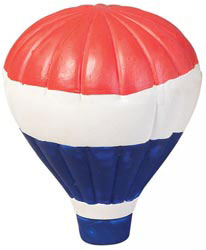 Custom imprinted USA Hot Air Balloon Stress Reliever