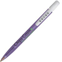 Custom imprinted Bic Media Clic Clear Pen