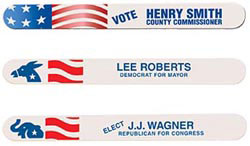 Custom imprinted Political Print Regular Emery Board