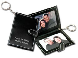 Custom imprinted Photo Keychain with Cover Strap