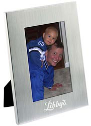Custom imprinted 4 x 6 Basic Brushed Aluminum Frame