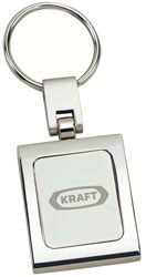 Custom imprinted Two-Tone Rectangular Keyholder