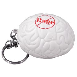 Custom imprinted Brain Stress Reliever Key Chain