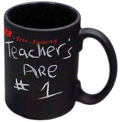 Custom imprinted Black Chalkboard Mug - 15 ounce