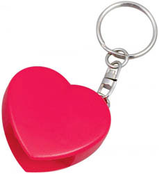 Custom imprinted Heart CD Opener Key Chain