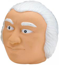 Custom imprinted George Washington Stress Reliever