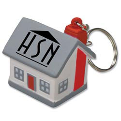 Custom imprinted Mini Cottage/House Stress Reliever KeyTag