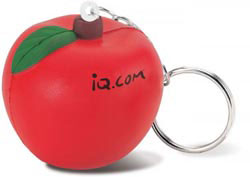 Custom imprinted Apple Key Chain Stress Reliever