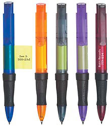 Custom imprinted CLOSEOUT Pen with Sticky Notes