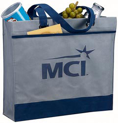 Custom imprinted Non Woven Grommet Tote