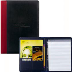 Custom imprinted Side Stripe Padfolio