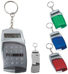 Custom imprinted Mini Calculator Key Tag