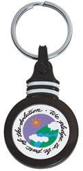 Custom imprinted Plastic Key Tags with Domed Epoxy Label