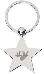 Custom imprinted Star Metal Key Tag