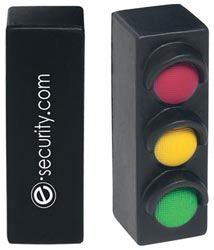 Custom imprinted Traffic Light Stress Reliever