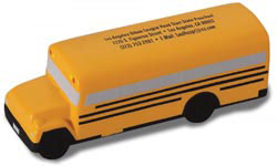 Custom imprinted School Bus Stress Reliever