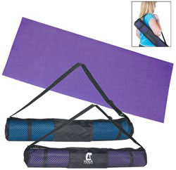 Custom imprinted Yoga Mat With Carrying Case