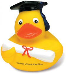 Custom imprinted Graduate Duck