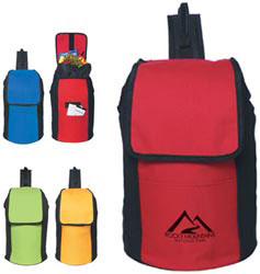 Custom imprinted Drawstring Kooler Sling Backpack