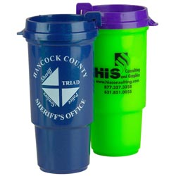 Custom imprinted 16 oz. Insulated Auto Cup