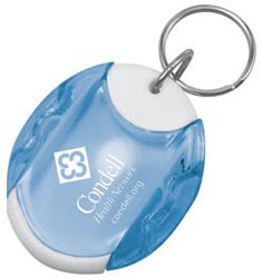 Custom imprinted Pill Dispenser Keytag