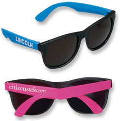 Custom imprinted Neon Rubber Sunglasses