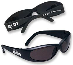 Custom imprinted Wrap-Around Sunglasses