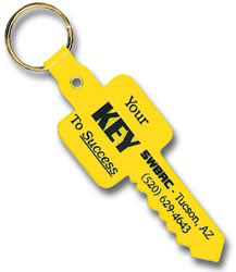 Custom imprinted Key Shaped Key Tag