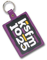 Custom imprinted Large Rectangle Key Tag
