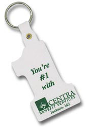 Custom imprinted Number One Key Tag