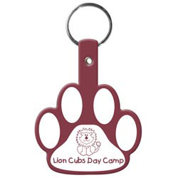Custom imprinted Paw Flexible Key-Tag