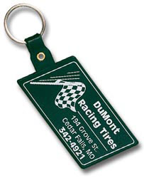 Custom imprinted Slanted Rectangle Key Tag