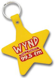 Custom imprinted Star Shaped Key Tag