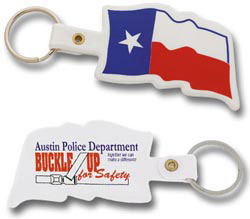 Custom imprinted Texas Flag Key Tag