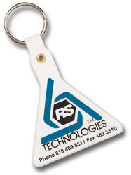 Custom imprinted Triangle Shaped Key Tag