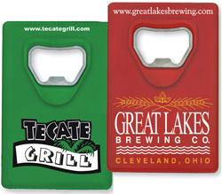 Custom imprinted Credit Card Bottle Opener