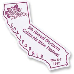 Custom imprinted California Flexible Magnet