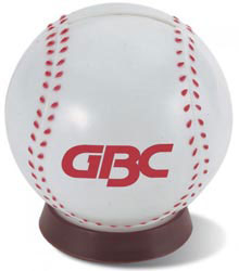 Custom imprinted Baseball Bank