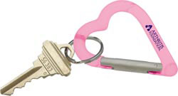 Custom imprinted Heart Carabiner Keyholder