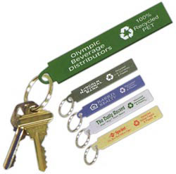 Custom imprinted Recycled Material Key Tag