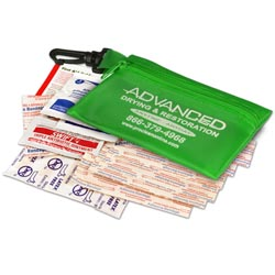 Custom imprinted Zip First Aid Kit