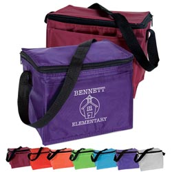 Custom imprinted CLOSEOUT 6 Pack Cooler