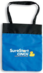 Custom imprinted Nylon Beach Tote Bag