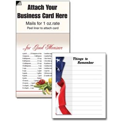Custom imprinted Magnetic Business Card Note Pad - Flag